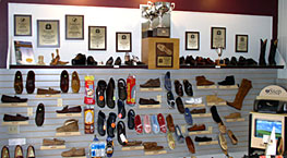 Chuck's Foot Support Shoe display